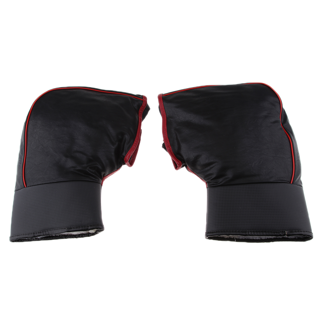 1 Pair Protective Handle Bar Gloves Hand Muffs For Motorcycles Scooters