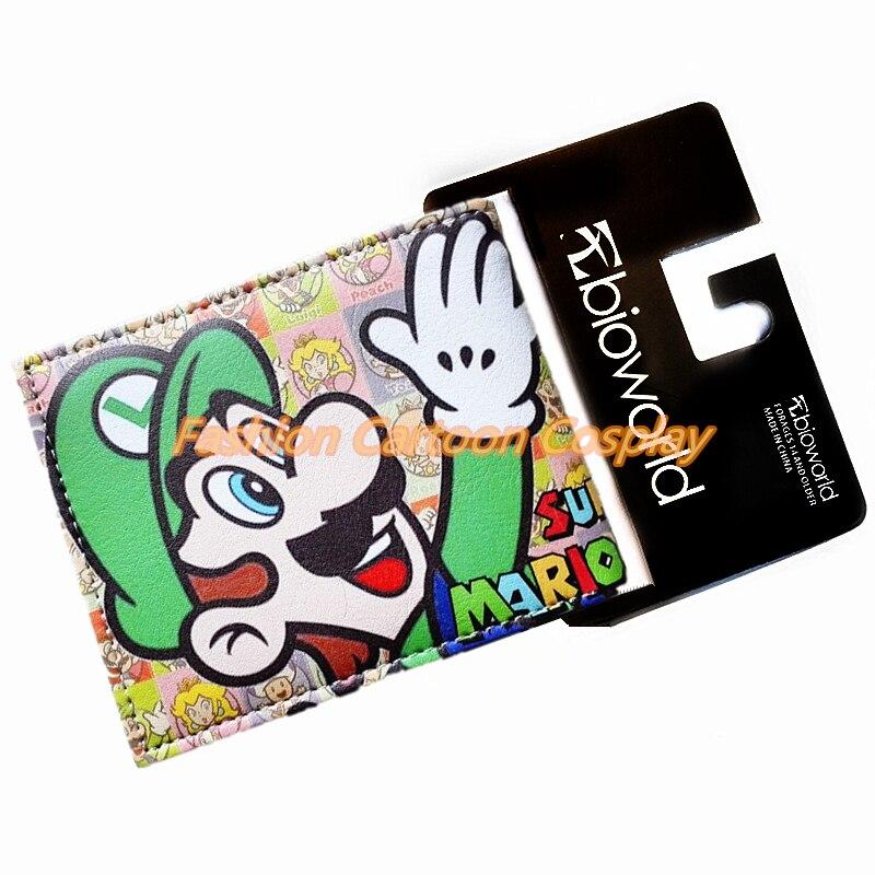309ada409e SUPER MARIO World Portafogli Cute Cartoon Comics Borsa Studente Gioco Corto Portafoglio  Anime Borsa Del Portafoglio della Moneta Teens Porta Carte di ...