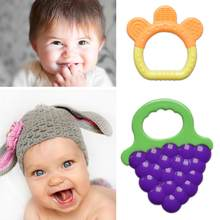 Baby Teether Safety Silicone Fruit Teethers for Infant Kids Chew Tooth Toys Dental Care Strengthening Training
