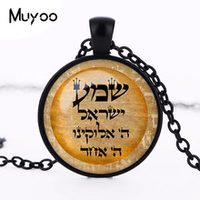 1 unids jewelry Shalom pendant necklace crystal necklace David Star Cabochon HZ1(China)
