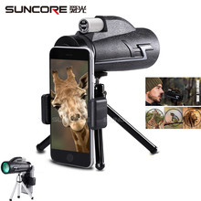 suncore Monocular Telescope 16x50 Waterproof Nitrogen Camping Hand Focus Travel Monocular for Hunting Hiking Birdwatching 168 2016 new style joufou charm shadow series 12x50 monocular waterproof telescope wide angle for hunting optics camping travel