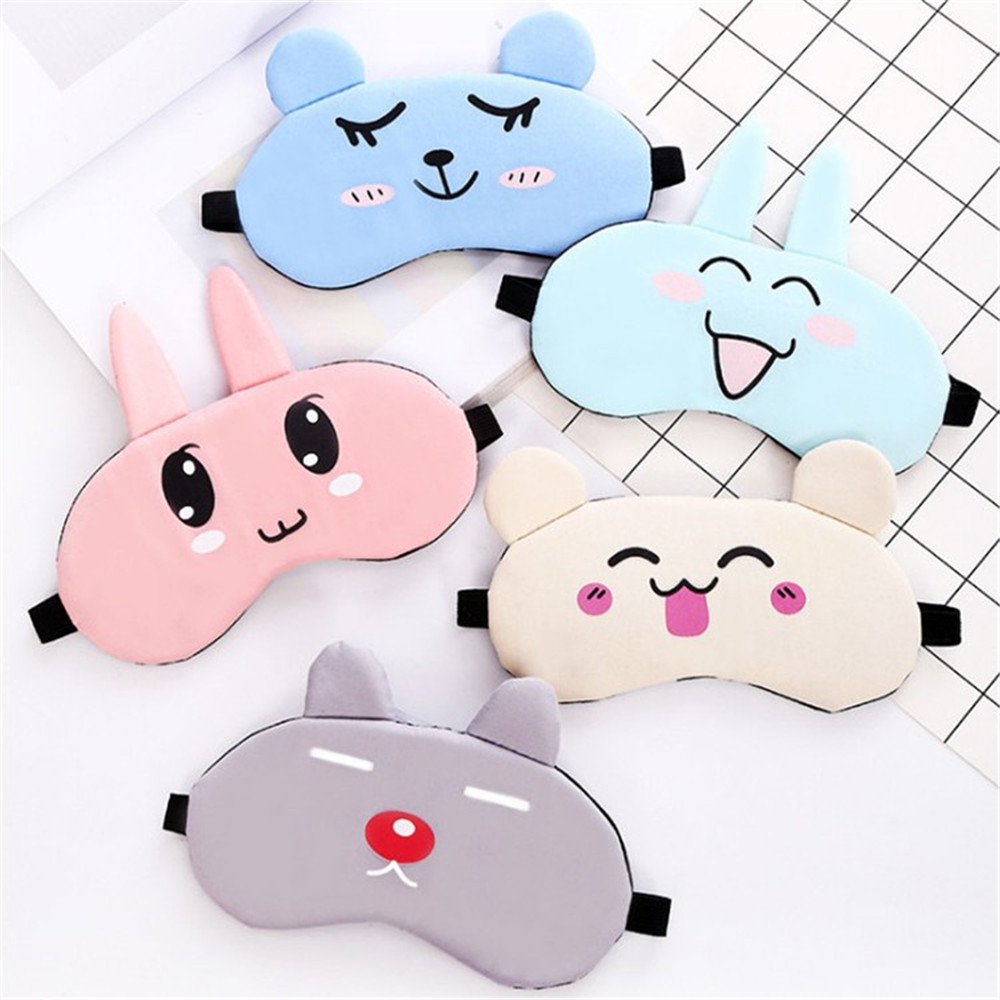 Cute Cartoon Cold Sleeping Eye Mask Ice Compress Blue Gel Eye Fatigue Relief Cooling Relaxation Eye Shield Eye Care Tools Remove