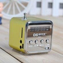 Портативный мини стерео супер бас MP3 динамик SD TF USB FM радио Музыкальный плеер TDV26 вставленный U диск карта динамик радио плеер