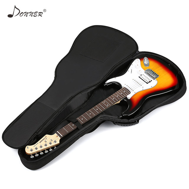 Donner 39 Inch Premium Electric Bass Guitar Gig Bag Backpack Case Cover Water Resistant Nonwovens Interior Thicken Sponge Pad