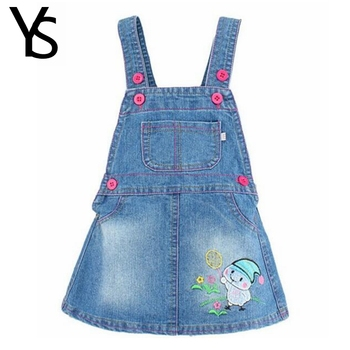 1-4T Summer Autumn Baby Girls Denim Overalls Kids Children Cotton Denim Jeans Dress Cute Outwear Sweat Toddlers Shorts Clothing