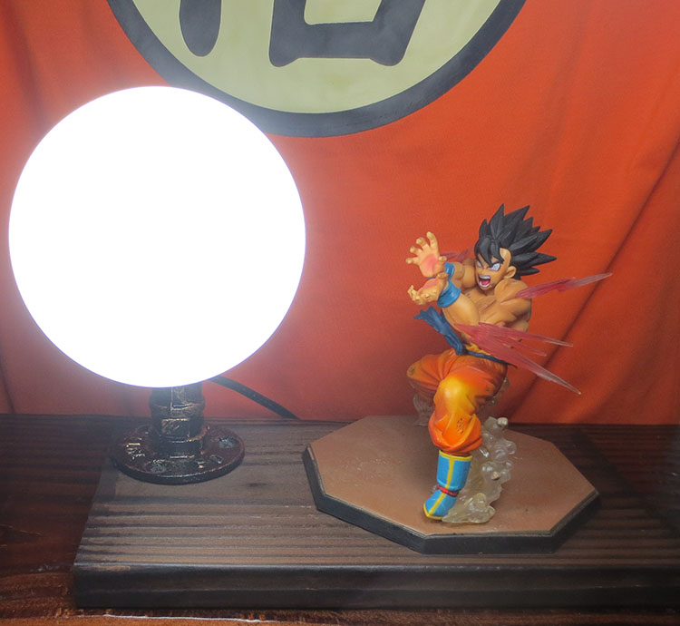 Knl хобби Dragon Ball LED Настольная лампа хит сезона руки Обезьяна Король глаз Blaster  ...