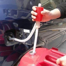 Plastic Car Parts Durable Hand Syphon Hose Transfer Pump Petrol Diesel Fuel Oil Water Liquid Portable Car Tool Accessories(China)