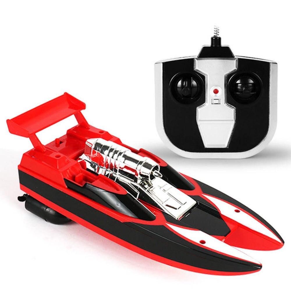 Скоростная лодка гоночная лодка на дистанционном управлении лодка пластиковая многоцветная Rc речная бассейн на открытом воздухе модная скоростной катер р/у гоночная игрушка - Цвет: red