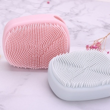 1pc Soft Glove Silicone Face Cleaner Wash Brush Scrubber Board for Cosmetic Make