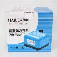10W 10L Min HAILEA V 10 High Output Aquarium Air Pump For Fish Tank Koi Pond