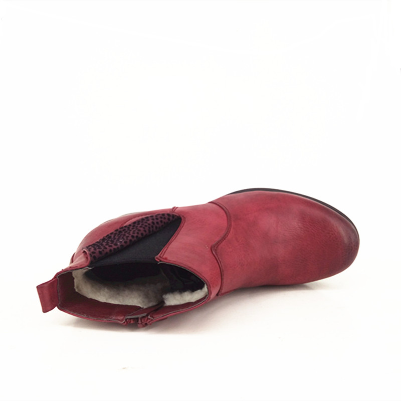 Hiver Cheville Chaussures Mode Femmes Féminine Dames Jearro Vin Bottes 2018 Femme L'hiver Taille Rouge Pour Chaleureusement 37 Courtes Talons De Nouvelle J1lFK3Tc