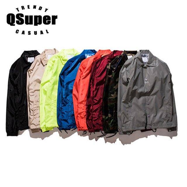 2017 Summer Mutil 9 Color Men Jackets Retro Coaches Coat Thin Slim Style Turn Down Collar Bomber Windbreaker Brand Jackets