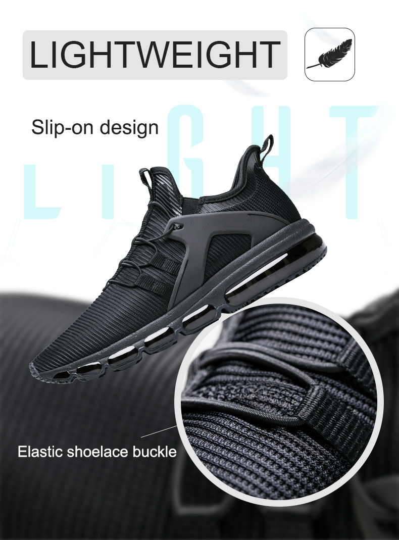 ONEMIX Unisex Sneakers New Fashion Lightweight Slip on Design Air Cushion Running Shoes Max 47 in Running Shoes from Sports Entertainment