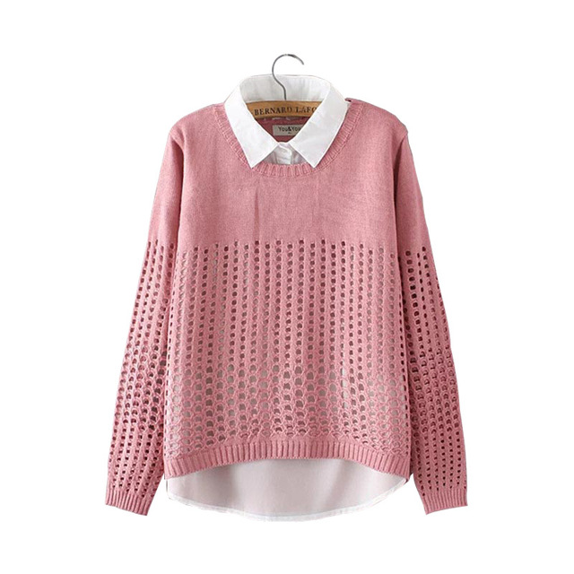 Plus Size XXXXL 2017 Spring Autumn Winter New Fashion 2pcs Together Solid Knitted  Long Sleeve Office 7a617ac78