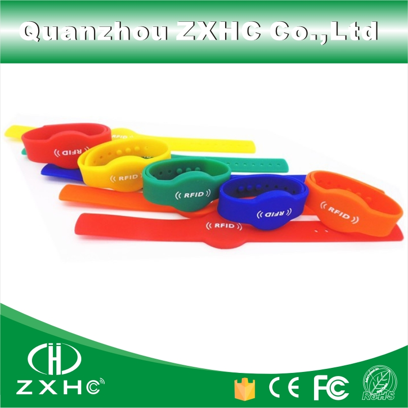 (10pcs/lot) Adjustable Waterproof Silicone Wristband RFID 125KHz Bracelet Read Only TK4100 (Compatible with EM4100)