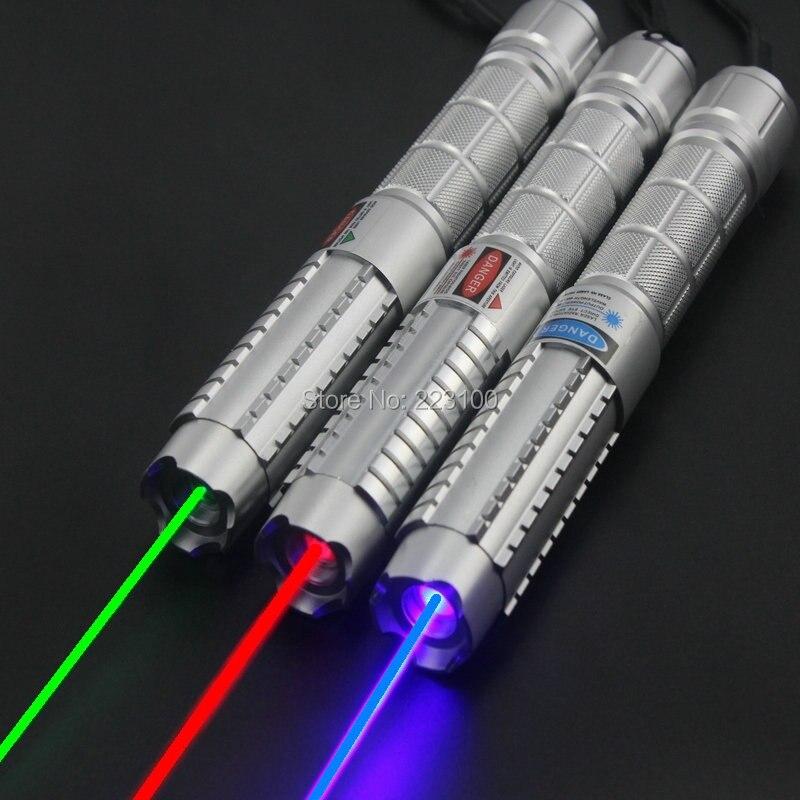 JSHFEI bleu pointeur laser avec 5 étoiles capaser pen Focussable GROS LAZER