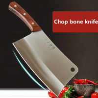 Free Shipping GTJ Forged Stainless Steel Kitchen Chop Bone Knife Chef Multifunctional Cutting Meat Vegetable Slicing Knives