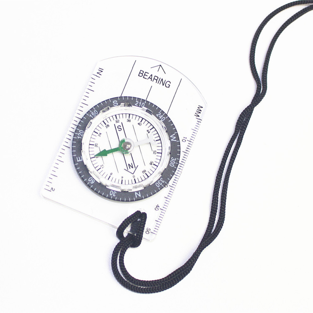 Outdoor Military Compass Scale Ruler Baseplate Mini Compass For Camping HikingHC