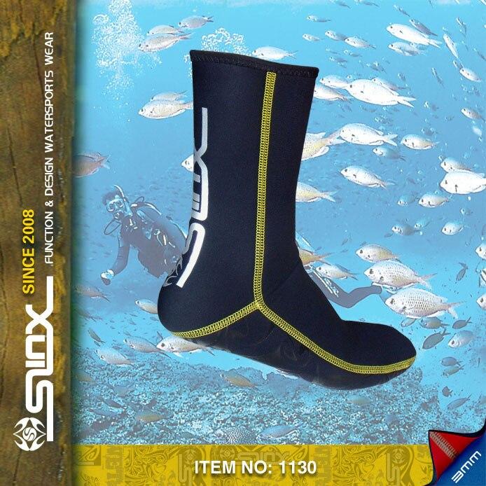 Free shipping slinx 3mm neoprene socks for diving equipment font b swimming b font neopren socks