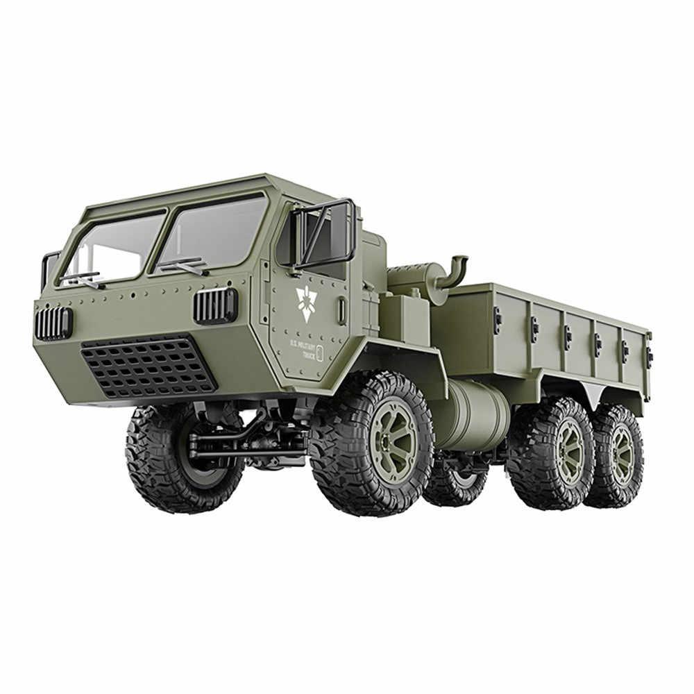 Caminhão militar 4WD 2.4G APP Controle WI-FI Luzes LED Caminhão Corridas De Drift Off-road Veículo 720 P HD câmera FPV Rastreador de Rock 6.19