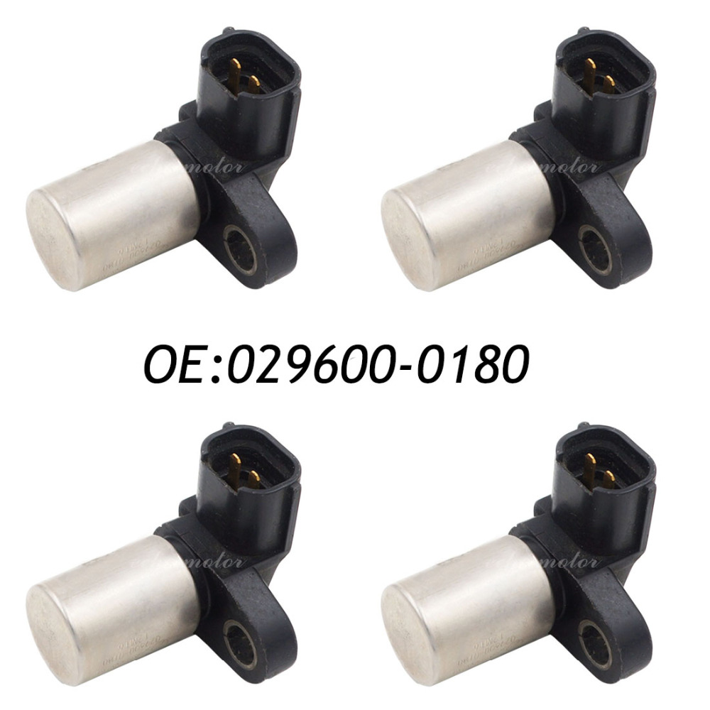 New 4pcs Engine Crankshaft Position Sensor Original 029600-0180 22053AA040 4pcs crankshaft position sensor for dodge mitsubishi infiniti i35 md187066 j5t25073 5s1716 pc50 180 0298 65057 ss10108