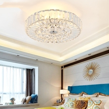 Modern Ceiling Lamp Study Bedroom Crystal LED Ceiling Light Atmosphere Household Living Room Luxury Round Hanging Lamp Luminaire modern round ceiling light with k9 crystal for bedroom lighting led ceiling lamp kitchen hanging lamp e14 bulb