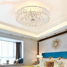 цены Modern Ceiling Lamp Study Bedroom Crystal LED Ceiling Light Atmosphere Household Living Room Luxury Round Hanging Lamp Luminaire