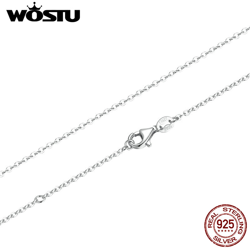 Top Sale 45cm Real 925 Sterling Silver Chains Necklaces Fit For Pendant Charm For Women Luxury S925 Jewelry Gift CQA010