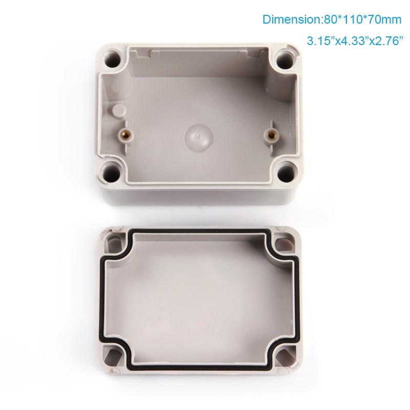 Staubdicht und Wasserdicht IP66 Elektronische Kunststoffboxen, ABS Gehäuse verwenden als anschlussdose 80*110*70mm
