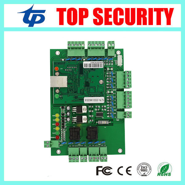 Free shipping TCP/IP 2 doors access controller can connect with 4 pcs weigand reader good quality door access control board L02