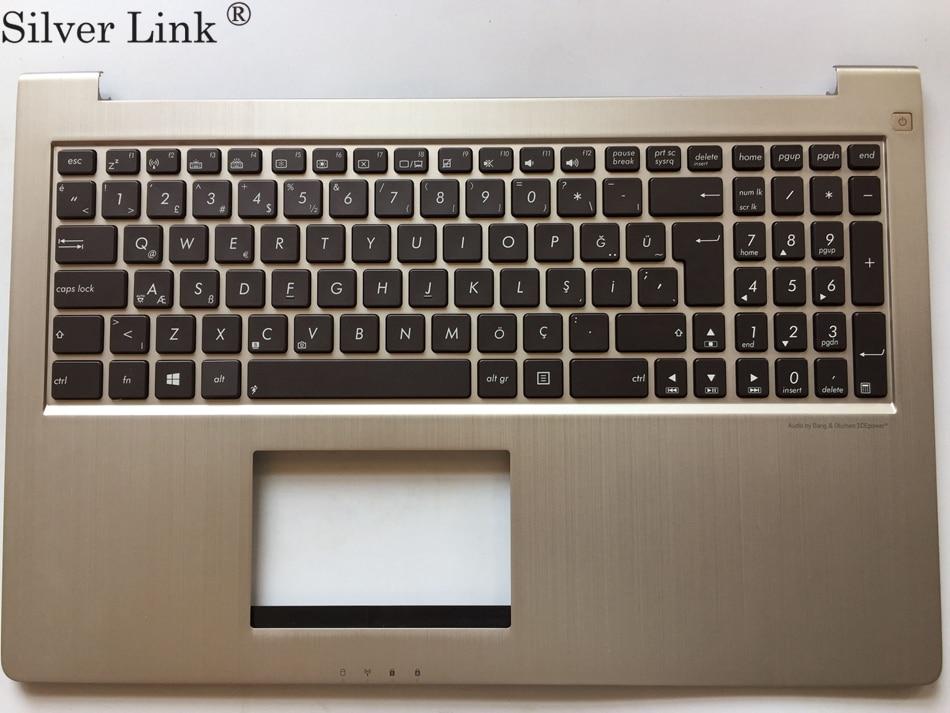 TR turkish backlight laptop Keyboard for ASUS UX51 UX51VZ  keyboard Palmrest with C cover