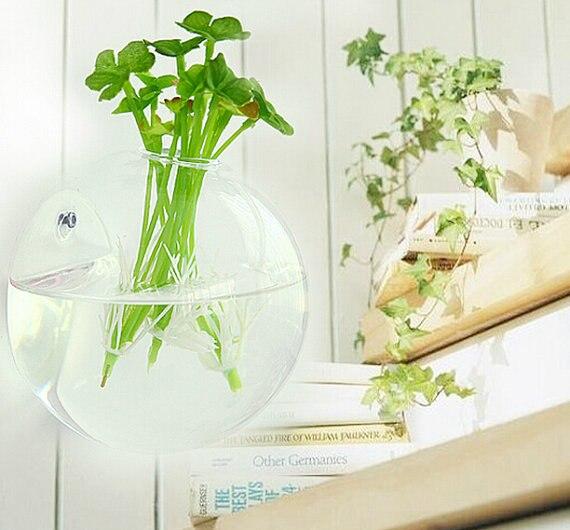 Set Of 4 Wall Hanging Glass Fish Bowlbubble Wall Glass Vasewall