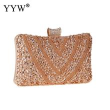 Crystal Evening Bag Beaded Clutches Handbags Silver Gold Black Evening Clutch Bags For Women Lady Wedding Purse Rhinestones day clutches elegant lady messenger bags for women clutch evening bag casual party purse beaded wedding handbag zh b0321