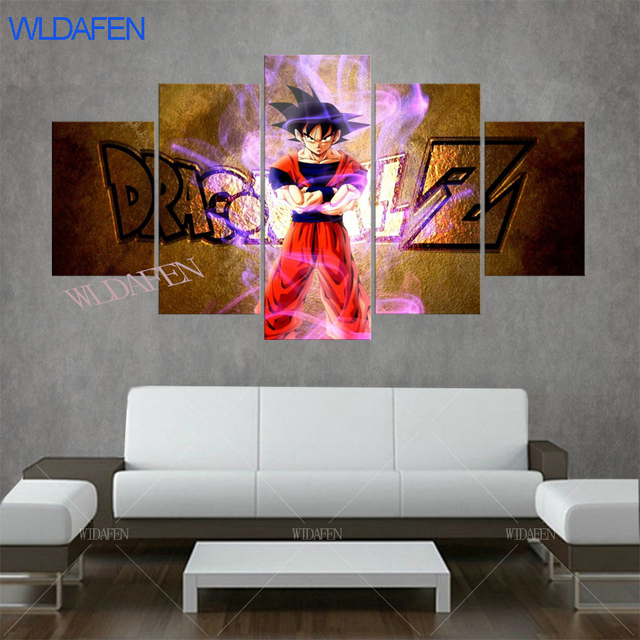 Dragon Ball Posters Anime Poster Kids Bedroom Decor Photo On The Wall HD  Printed 5 Pieces