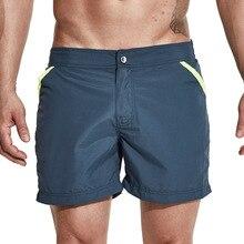 DESMIIT bermuda shorts men beach board swim shorts swimsuit quick dry man surf surfing short sport suit with liner zipper pocket