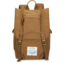 15.6 Canvas Men Backpack Large Capacity School Bags for Teenagers Laptop Rucksack Male Mochila