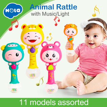 HOLA 3101 Baby Shaker Sand Hammer Toy Dynamic Rhythm Stick Baby Rattles Kids Musical Party Favor Musical Instrument Toys