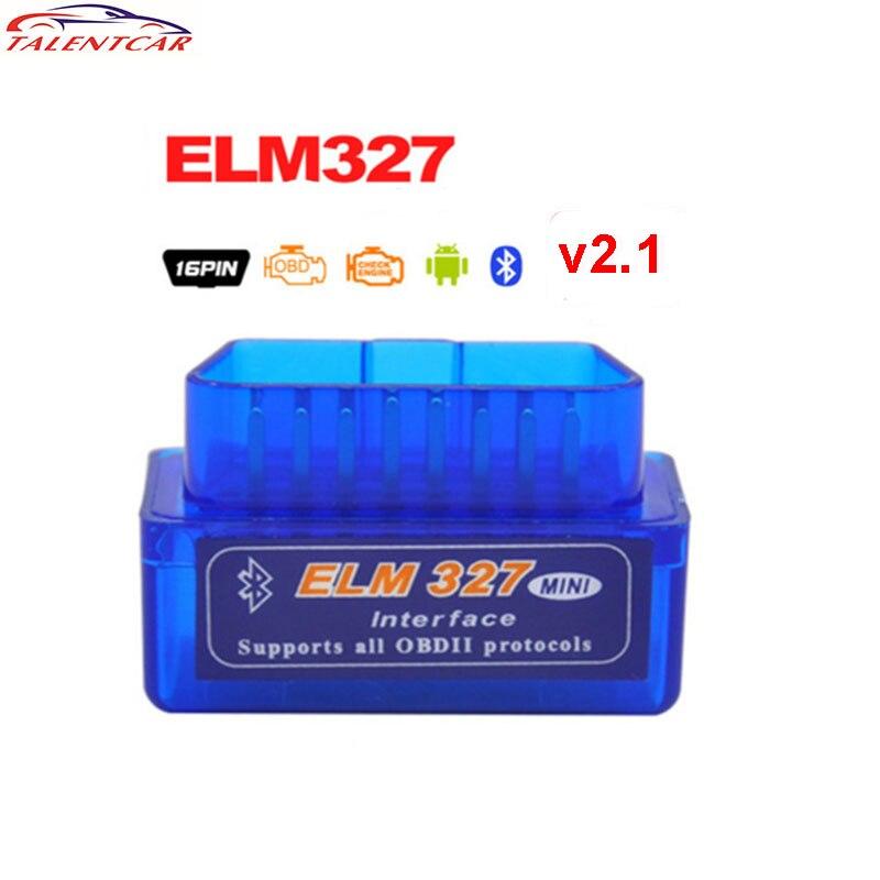 10Pcs/lot Latest Version Super Mini ELM327 Bluetooth V2.1 OBD2 Mini Elm 327 Car Diagnostic Scanner Tool For ODB2 OBDII Protocols mini elm327 l v1 5 obd2 bluetooth car diagnostic tool scanner interfac