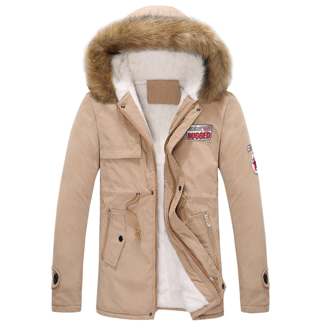 2017 new autumn and winter men and women couple thick warm fur collar big yards long section padded cotton jacket
