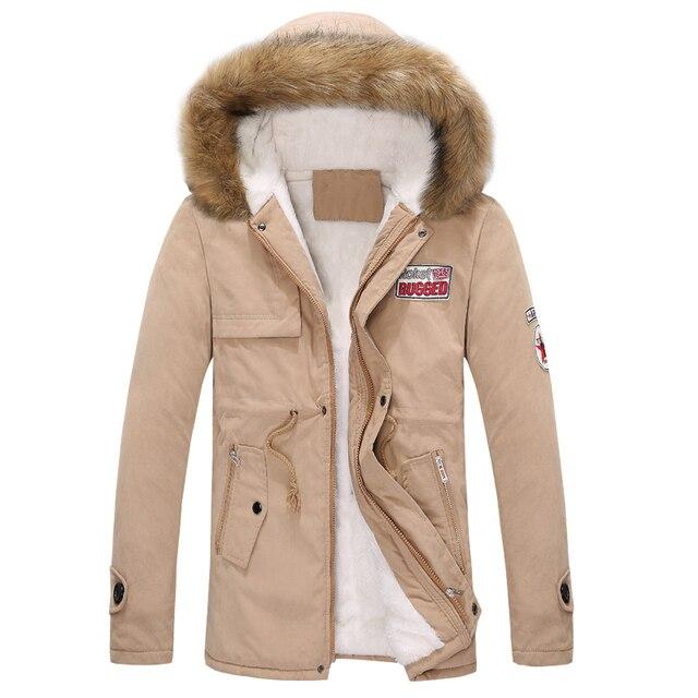 2017 novos outono e inverno homens e mulheres casal quente grossa gola de pele grandes estaleiros longa seção de jaqueta de algodão acolchoado