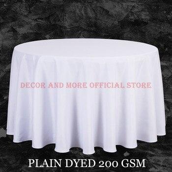 Büyük Boy Polyester Beyaz Yuvarlak Masa Örtüsü Düğün Masa Örtüsü Parti Masa Örtüsü Kare yemek masası Keten Dikdörtgen Toptan
