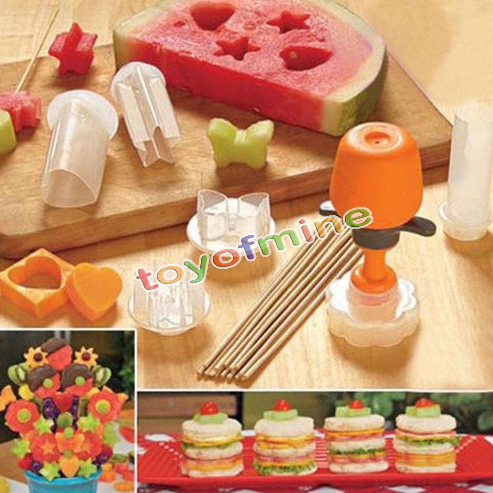 6 Pcs Eco Friendly Fruit Shape Cutter Slicer Food Decorator Fruit Cake  Salad Helper Kitchen Accessories Cooking Tools Heart Star