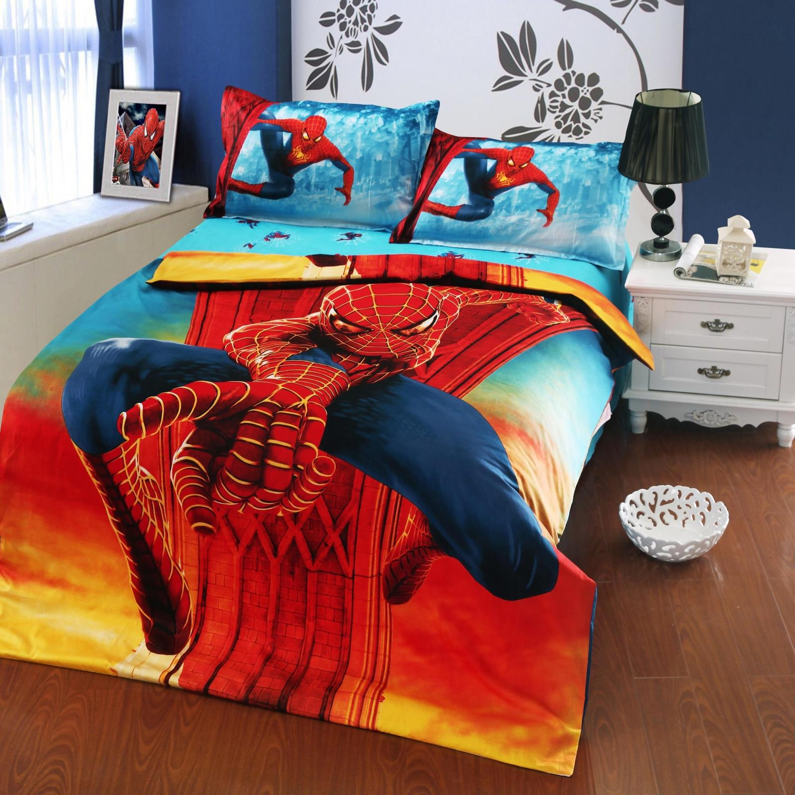 Image gallery spider man bed for Boys spiderman bedroom ideas