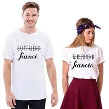 7f9b481e2 EnjoytheSpirit Couple Tshirt Girlfriend Boyfriend Fiance Shirt Just Engaged  Couple Matching Tee Soft Cotton Crewneck Fashion