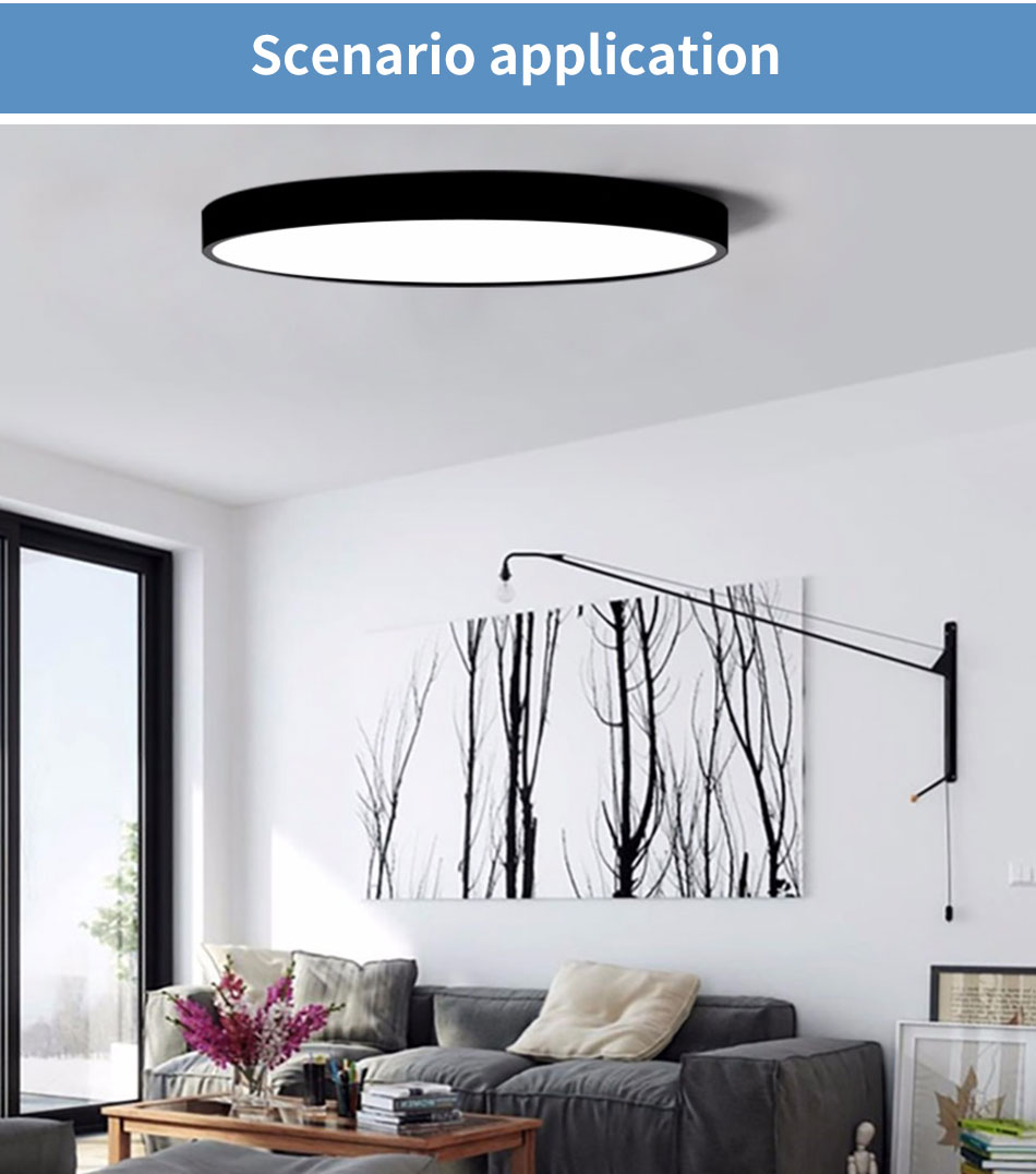 HTB1NU4haPnuK1RkSmFPq6AuzFXag LED Ceiling Light Lamp Modern Lighting Fixture Bedroom Kitchen Foyer Simple Surface Mount Flush Panel Living Room Remote Control