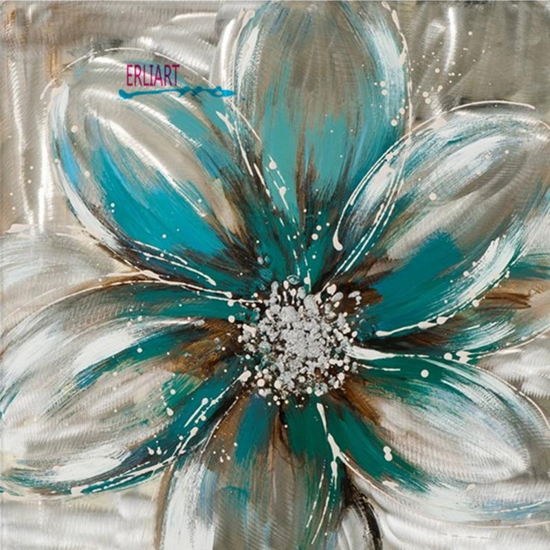 Frameless Canvas Art Oil Painting Flower Painting Design: Light Colored Flower Oil Painting Frameless Modern Art