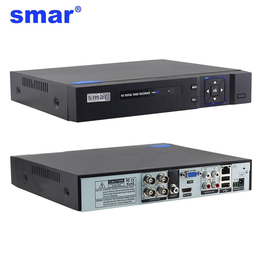 Smar 1080 p 4 8 Canal 4 8CH Surveillance Vidéo Enregistreur 5 dans 1 Onvif AHD DVR AHD-H Hybride CCTV système de sécurité pour AHD Caméra IP