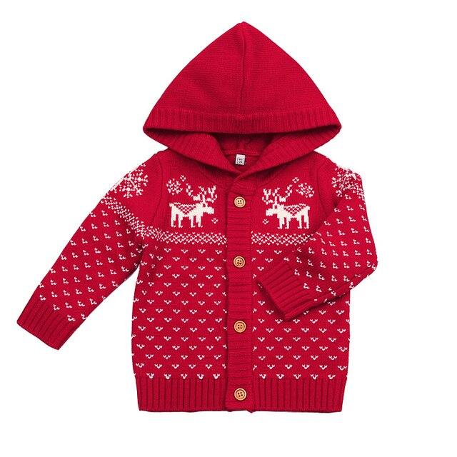1f8013b82ab8 6 24M Baby Christmas Elk Winter Sweater For Kids Girls Boy Knitting ...