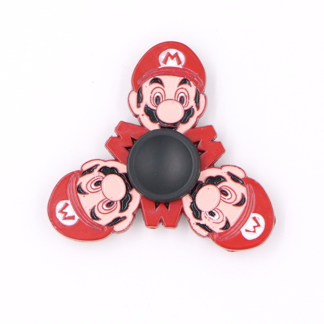 Super Mario Bros 6cm Metal Hand Spinner Fid Toy Action Figures