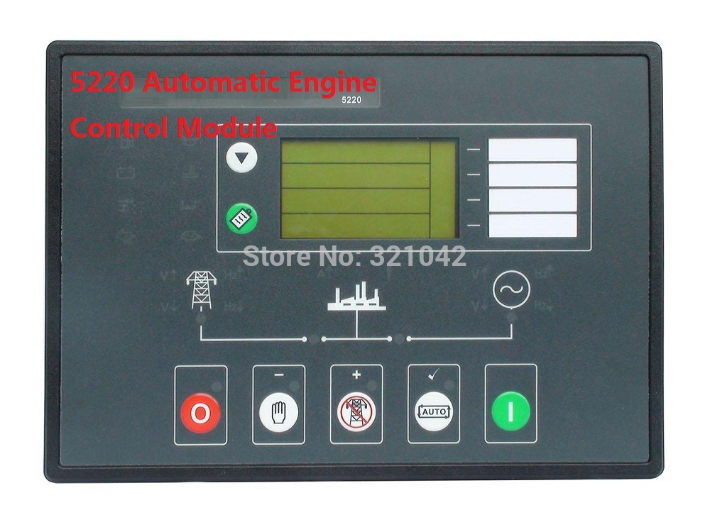 deep sea Generator Controller 5220 Automatic Engine Control Module+DHL FEDEX UPS express fast shipping way free shipping deep sea generator set controller module p5110 generator control panel replace dse5110